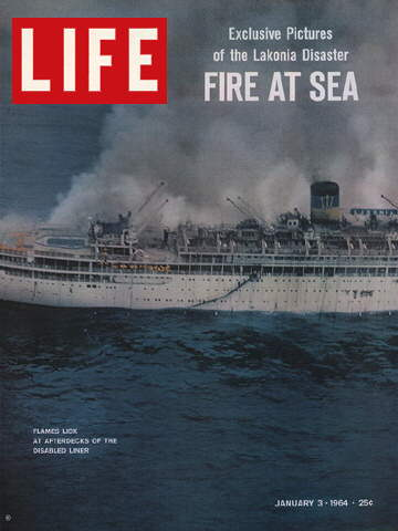 S.S. LAKONIA FIRE AT SEA