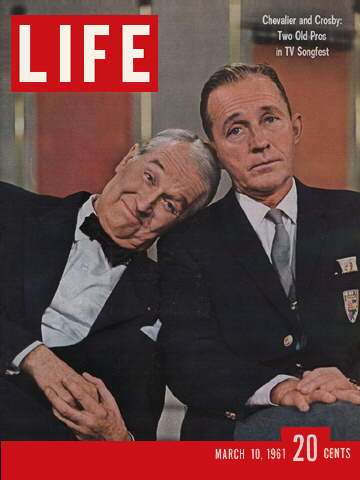 MAURICE CHEVALIER AND BING CROSBY
