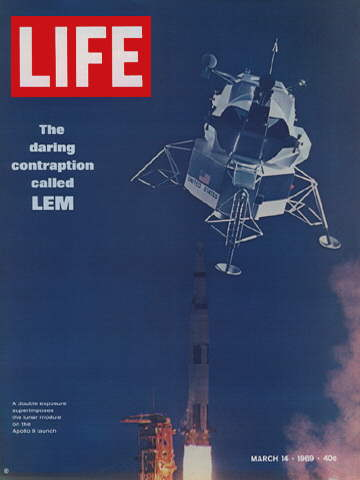 LUNAR MODULE ON APOLLO 9