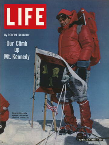 ROBERT KENNEDY ON MOUNTAIN SUMMIT