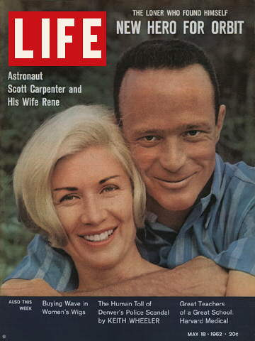 ASTRONAUT SCOTT CARPENTER AND WIFE RENE