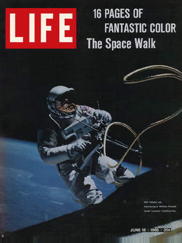 ASTRONAUT ED WHITE DURING SPACEWALK