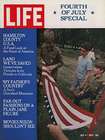 IOWA BOY SCOUTS WITH FLAG