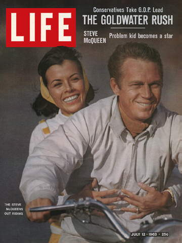 STEVE MCQUEEN WITH WIFE NEILE