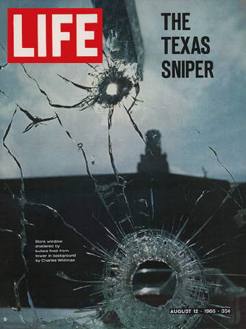 TEXAS STORE WINDOW SHATTERED BY SNIPER