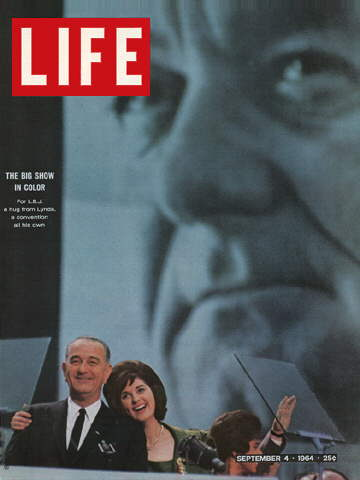 PRESIDENT JOHNSON AND DAUGHTER LYNDA